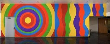 """Wall Drawing #905"" at Mohawk Trail Regional High School in Shelburne Falls."